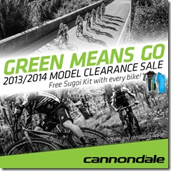 Cannondale Green Means Go FB News